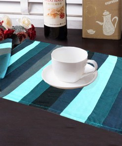 Avioni Premium Faux Silk Table mats With Matching Napkins Export Quality ( Set of 12)