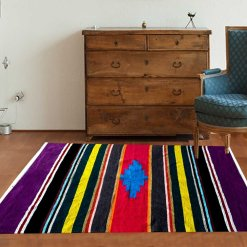 Multicolor Cotton and Chenille Handloom Durries 4 X 6 Feet by Avioni
