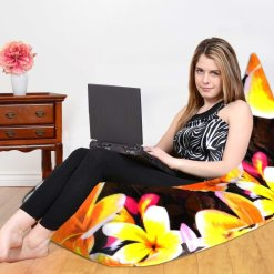 BIGMO Designer Digital Print Bean Bag Lounger Extra Soft With Beans Medium Size- suitable for kids room as well