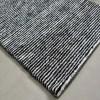 Solid Handloom Black And White Striped Rug/ Carpets 3 x 5 Feet By Avioni