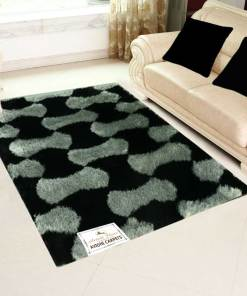 Beautiful Shag Rugs |Grey and Black Carpet | Living Room Area Rugs | Avioni | 3x5