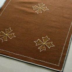 Brown Carpet | Wool Area Rugs | Embroidered | Avioni