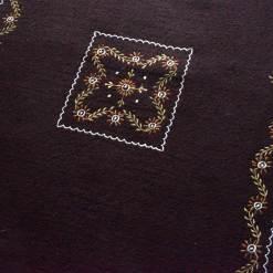 Dark Brown Carpet | Woolen Mat | Embroidered | Avioni