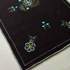 Buy Dark Brown Rug | Woolen Mat | Embroidered | Avioni