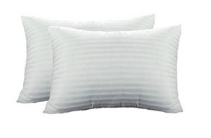 Pillow Cases - 100% Cotton in White Design - Set of 2 -Avioni