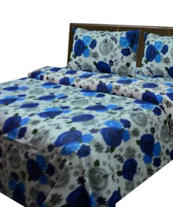 Cotton bedsheets with multicolor floral print