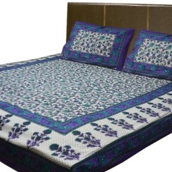 Jaipuri Printed 100% Cotton Double Bedsheet By Avioni