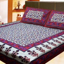 Double Bedsheet Jaipuri Printed 100% Cotton By Avioni (90 X 95 Inches)
