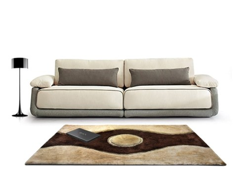 Beautiful Shag Rugs – Modern Carpet – Coffee and Beige Curve Design – Avioni  – Factory Prices