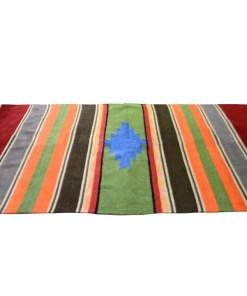 Buy Handloom Rugs (Durries) In Red Border With orange Online