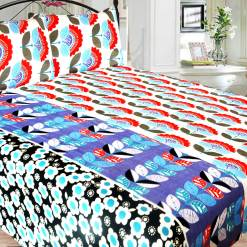 Double Bed Sheet Poly Cotton Fast Colors Best Price  Avioni Quality Guarantee In Beautiful Floral Design