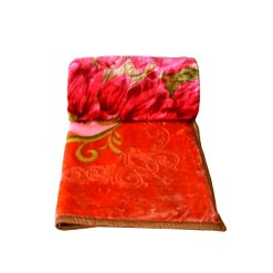 Mink Double Bed Blankets Embossed Multicolor Floral Very Soft And Warm-queen size by Avioni