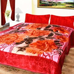 Mink Blankets Embossed in Multi Floral for Double Bed by Avioni