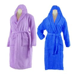 Bath Robe With Hood Multicolor Set of 2 by Avioni