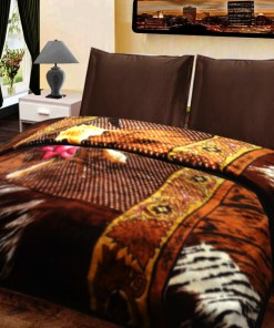 Double Bed Soft Mink Blankets Multicolor Design by Avioni