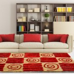 Shag Rug - Red Carpet in Modern Squares Design  - Contemporary Rugs by Avioni  - Best Seller
