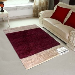 Avioni Handloom Rugs Carpets For Living Room In Feather Touch   -90cm x 150cm (~3×5 Feet)