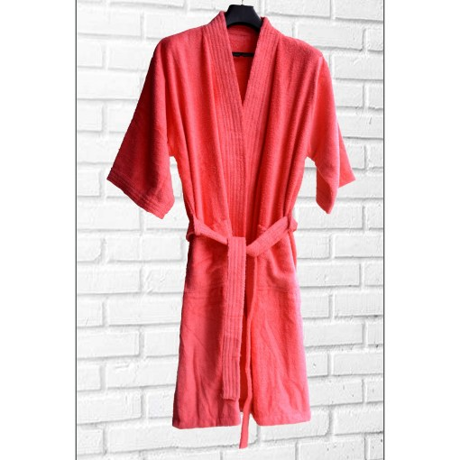 Loomkart Very Fine Export Quality Bath Robes in Pink Without Hood in Avioni Zip-Packing Unisex