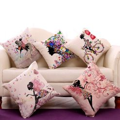 3D Cushion Covers Every Girl Is Her Parents Fairy- Best Price 16 X 16 Inch (set of 5) by Avioni