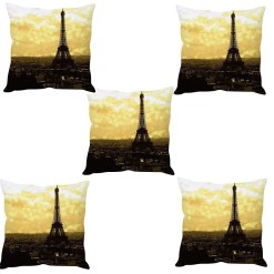 3D Cushion Covers Efille Tower Soft Feel – Best Price 16 X 16 Inch (set of 5) by Avioni