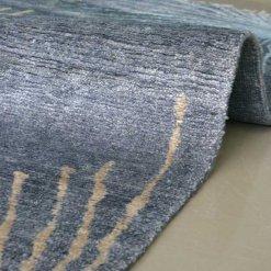 Gift for Generations by Avioni-Hand Knotted Premium Kashmiri Silk Grayish-Blue Carpet Guaranteed Hand Made 225 Knots per Sq inch- 120cm x 180cm (~4×6 Feet)