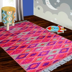 Silk Carpet Kids Collection  – Pink Beauty Kids Room Rug – 3×5 Feet  (90 x 150 cms)-Avioni
