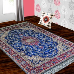 Silk Carpet Persian Design Collection Blue  – Living Room Rug -Avioni