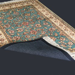 Silk Carpet Persian Design Collection Beige N Blue  – Living Room Rug – 3×5 Feet  (90 x 150 cms)-Avioni