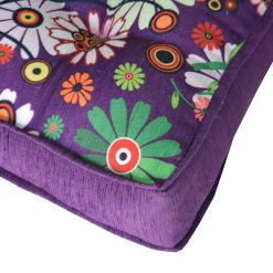 Avioni Luxury 3D Printed Throw  Cushion X- Large In High Quality Chenille- purple