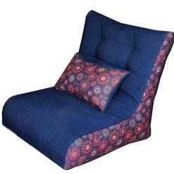 Bean Chair   XXL Bean Bag   Beans & Back Cushion Included   BIGMO