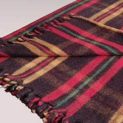 Wool Blanket | Premium In Tartan Design-Single Bed Multicolour