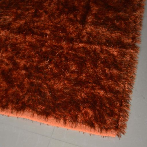 Fur Rug For Living Room|Orange With Gray Shade|By Avioni| 92×152 cm|3×5 Feet
