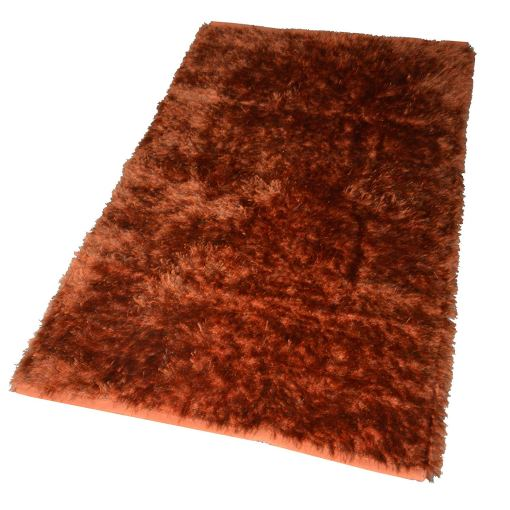 Fur Rug For Living Room|Orange With Gray Shade|By Avioni|122×182 cm|4×6 Feet