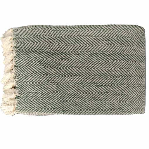 Blue Cotton Blankets  Organic Bio Washed King Sized Double Bed In Giftable Zip Packing By Avioni