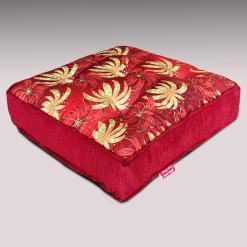 Throw  Cushion | XL | Avioni Luxury 3D Printed | High Quality Chenille- Red
