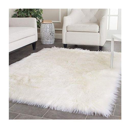 Soft Shaggy Rugs  – Fluffy Rug  –  Snow White Premium Long Fur – Avioni Carpets