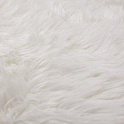 Soft Shaggy Rugs  – Fluffy Rug  –  Snow White Premium Long Fur – 92×152 cm (3×5 Feet)- Avioni Carpets
