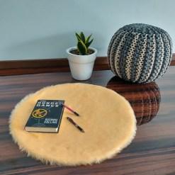 Shaggy Carpet –  Premium  Fur – 60 cm Round – Avioni Carpets- Peach Colour (1+1- set of 2 )