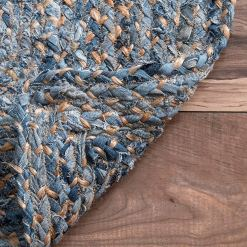 Jeans With Jute Handmade Braided Area Rugs|Avioni-  Premium Collection