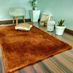 Soft Shaggy Rugs  – Fluffy Rug  –  Brown Premium Fur – Avioni Carpets