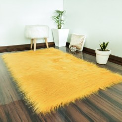 Soft Shaggy Rugs  – Fluffy Rug  –  Brown Premium Long Fur  – Avioni Carpets