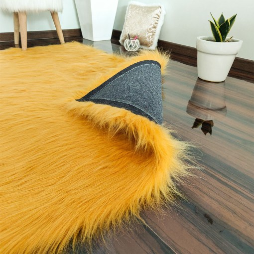 Soft Shaggy Rugs  – Fluffy Rug  –  Brown Premium Long Fur  – Avioni Carpets