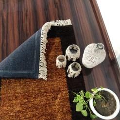 Avioni Carpets for Living Room/Pooja Room – Neo Modern Collection Brown And Coffee Carpet/Rug – 90cm x 150cm (~3×5 Feet)