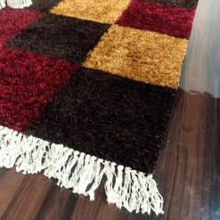 Avioni Carpets for Living Room/Pooja Room – Neo Modern Collection Red-Coffee Box Carpet/Rug – 90cm x 150cm (~3×5 Feet)