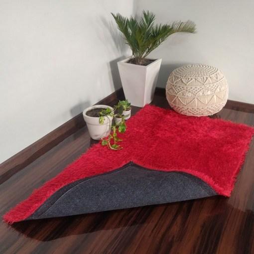 Super Saver Deal-Avioni Fur Carpets for Living Room – Red Colour-90cm x 150cm (~3×5 Feet)