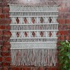 Avioni Hand Knotted Macrame Hanging With Intricate Seven Stick Design Boho Look – Good For Gifting – 90 x 95 cms