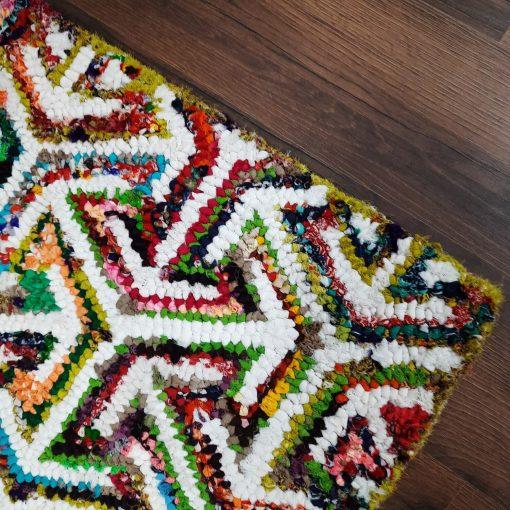 Chindi Carpet –  Multicolour Cotton Carpet  – 120cm x 180cm (~4×6 Feet)-  Avioni