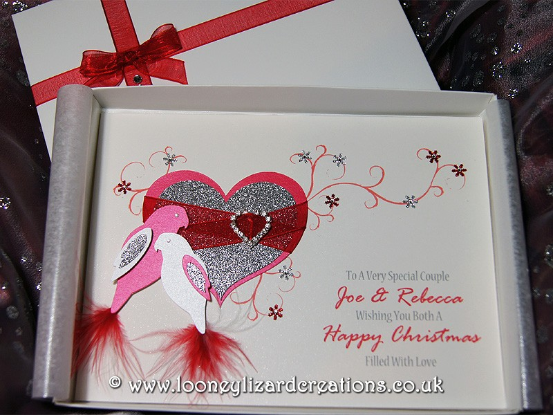 Christmas Duet Luxury Handmade Christmas Card