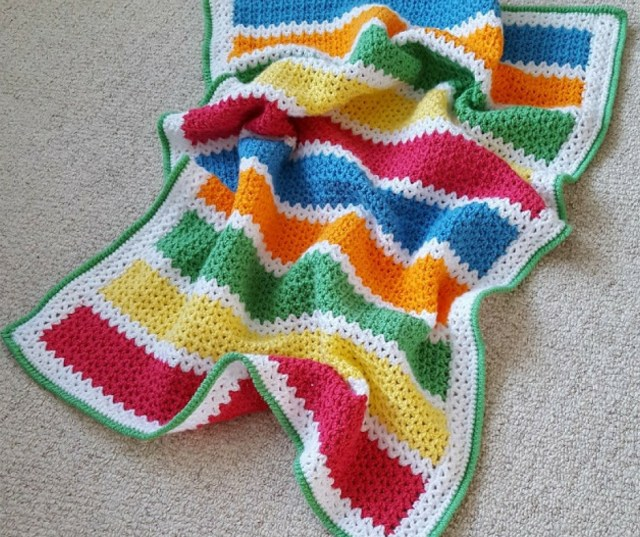 colourful crochet baby blanket