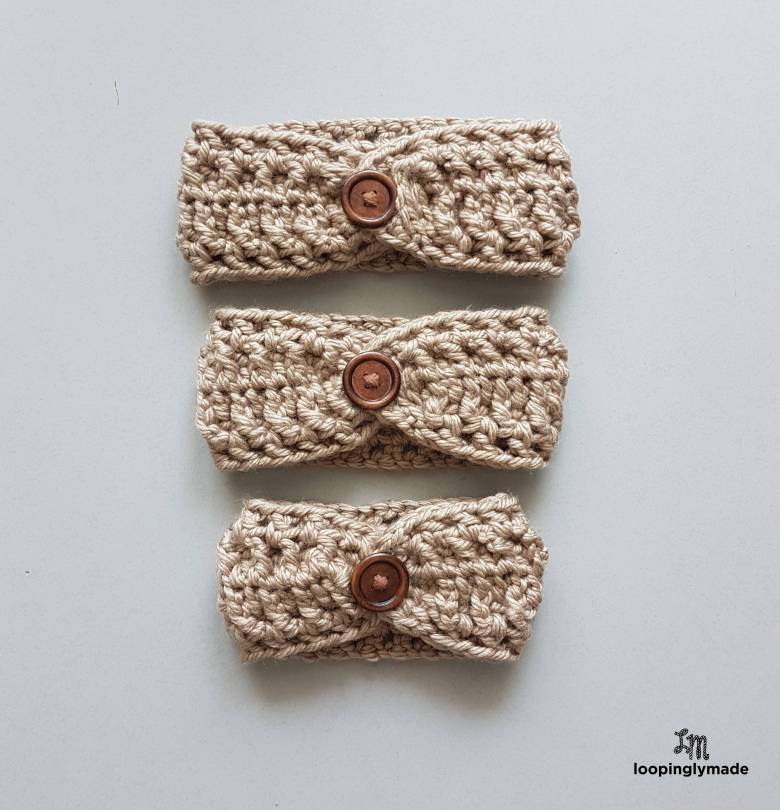 Super Quick And Chunky Headband Free Crochet Pattern